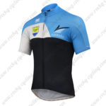 2015 Team Contador Biking Jersey Black Blue