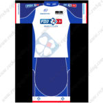 2015 Team FDJ Biking Kit White Blue