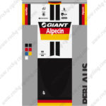 2015 Team GIANT Alpecin Cycling Kit White Yellow Red