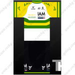 2015 Team IAM Riding Jersey White Yellow Green