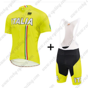 2015 Team ITALIA Cycling Bib Kit Yellow