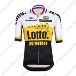 2015 Team LOTTO JUMBO Biking Jersey White Yellow Black