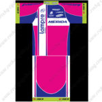 2015 Team Lampre MERIDA Bicycle Jersey Blue Pink