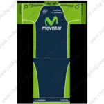 2015 Team Movistar Pro Cycling Kit Green Blue