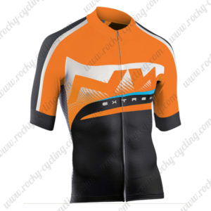 2015 Team NW Cycling Jersey Orange Black