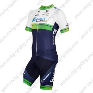 2015 Team ORICA GreenEDGE Cycling Kit White Blue Green