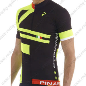 2015 Team PINARELLO Cycling Jersey Black Green