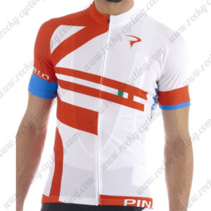 2015 Team PINARELLO Cycling Jersey White Red