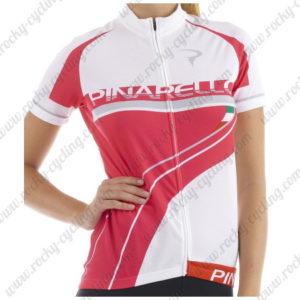2015 Team PINARELLO Women's Cycling Jersey White Pink