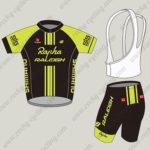 2015 Team Rapha RALEIGH Cycling Kit Black Yellow