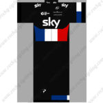 2015 Team SKY JAGUAR Cycling Kit Black Blue Red