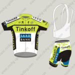 2015 Team Tinkoff SAXO BANK Cycling Kit Green White