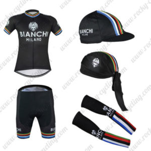 2016 Team BIANCHI MILANO Cycling 5-piece Set Black