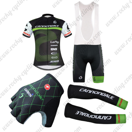 2016 Team Cannondale Cycle Outfit Set Riding Jersey and Padded Bib ... bdee92777