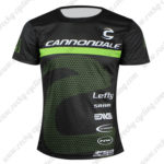 2016 Team Cannondale Outdoor Sport Apparel Riding Sweatshirt Round Neck T-shirt Black Green