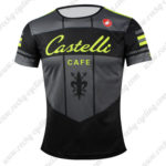 2016 Team Castelli CAFE Outdoor Sport Apparel Biking Sweatshirt Round Neck T-shirt Black Yellow