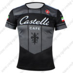 2016 Team Castelli CAFE Outdoor Sport Apparel Cycle Sweatshirt Round Neck T-shirt Black Green Red