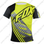 2016 Team FOX Outdoor Sport Apparel Biking Sweatshirt Round Neck T-shirt Black Yellow