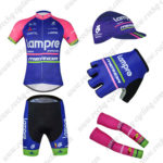 2016 Team Lampre MERIDA Cycling 5-piece Set Pink Blue