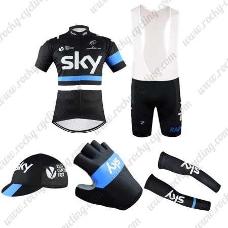 2016 Team SKY Rapha Riding Wear Bicycle Jersey and Padded Bib Shorts ... f7c670e46