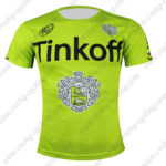 2016 Team Tinkoff Outdoor Sport Apparel Biking Sweatshirt Round Neck T-shirt Green