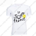 2016 Tour de France Outdoor Sport Apparel Bicycle Sweatshirt Round Neck T-shirt White