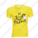 2016 Tour de France Outdoor Sport Apparel Bicycle Sweatshirt Round Neck T-shirt Yellow