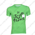 2016 Tour de France Outdoor Sport Apparel Biking Sweatshirt Round Neck T-shirt Green