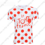 2016 Tour de France Outdoor Sport Apparel Cycling Sweatshirt Round Neck T-shirt Polka Dot