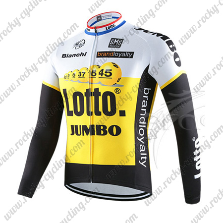 b04f1e622 2016 Team LOTTO JUMBO Winter Bicycle Wear Thermal Fleece Riding Long ...