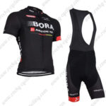 2015 Team BORA ARGON 18 Cycle Bib Kit Black