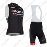 2015 Team BORA ARGON 18 Cycle Sleeveless Vest Bib Kit Black