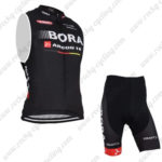 2015 Team BORA ARGON 18 Cycle Sleeveless Vest Kit Black