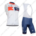 2015 Team IAM Bicycle Bib Kit White Blue