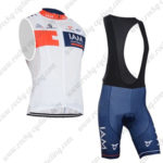 2015 Team IAM Cycling Bib Kit White Blue