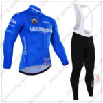 2016 GIRO O'Italia LaGazzettadello Sport Cycling Long Bib Suit Blue