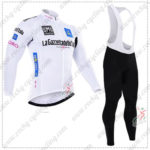 2016 GIRO O'Italia LaGazzettadello Sport Cycling Long Bib Suit White