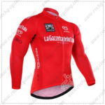 2016 GIRO O'Italia LaGazzettadello Sport Cycling Long Jersey Maillot Red