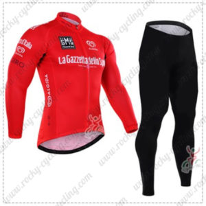 2016 GIRO O'Italia LaGazzettadello Sport Cycling Long Suit Red
