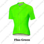2016 Pro Cycling Jersey Maillot Shirt Fluo Green