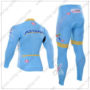 2016 Team ASTANA Cycle Long Suit Blue