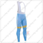 2016 Team ASTANA Riding Long Bib Pants Tights Blue