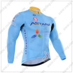 2016 Team ASTANA Riding Long Jersey Maillot Blue