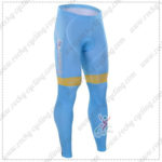 2016 Team ASTANA Riding Long Pants Tights Blue