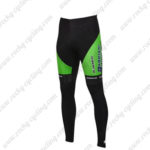2016 Team BARDIANI CSF Bicycle Long Pants Tights Green