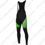 2016 Team BARDIANI CSF Cycle Long Bib Pants Tights Green
