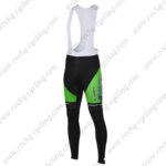 2016 Team BARDIANI CSF Cycling Long Bib Pants Tights Green
