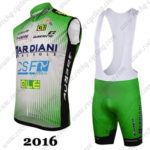 2016 Team BARDIANI CSF Cycling Sleeveless Vest Bib Kit Green