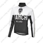 2016 Team BIANCHI Bicycle Long Jersey Maillot White Black