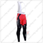 2016 Team BMC Cycling Long Bib Pants Tights Red Black